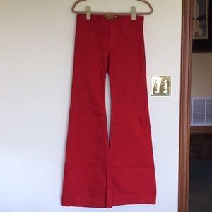 Allen B. By Allen Schwartz Red bell bottom jeans.